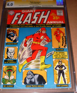 Flash Annual #1 CGC SS SIGNED Murphy Anderson DC Giant 1963 Carmine Infantino