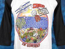 NOS vintage 80s MEN AT WORK CARGO TOUR CONCERT JERSEY T-Shirt MEDIUM raglan