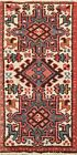 Vintage Geometric Ivory Traditional Area Rug Hand-knotted Wool Tribal Carpet 2x4