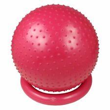 Ballon de massage Ø 65 Balle de gymnastique et de fitness + pompe + bol en bois