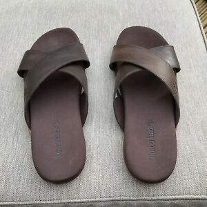Mens Timberland Brown Leather Sandals