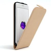 Tasche für Apple iPhone 8 / 7 Plus Flip Case Schutz Hülle Handy Cover Hellbraun