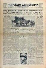 Stars and Stripes Apr 22 1944 - Bombers Paste Truk - Patton in England - Ringmen