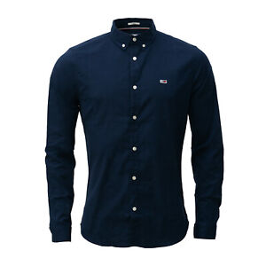 Tommy Hilfiger,Tommy Jeans Men's Shirt,Long Sleeve, Navy (Navy), Button Down