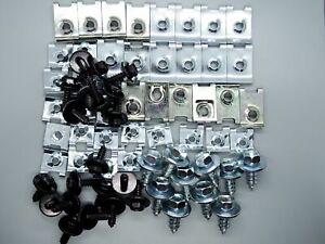 70 tlg Set Blechmuttern Blechschrauben Blechmutter Karosseriemuttern für Kfz
