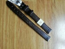 Ladies MORELLATO Italian Brown Buffalo XL 12mm Watch Strap, 10mm S/S Buckle