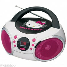 HELLO KITTY KT2026MBY Portable Stereo CD Boombox with AM-FM Radio Speaker NEW