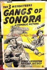 "Original 1941 GANGS OF SONORA 27x41"" poster The Three Mesquiteers"
