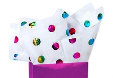 Shiny ~ Metallic Hot Spots Tissue Paper # 425 ~ 10 Large Sheets