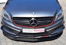 Mercedes A Class Carbon Fibre Front Spoiler Splitter W176 A45 A250 - Red Stripe