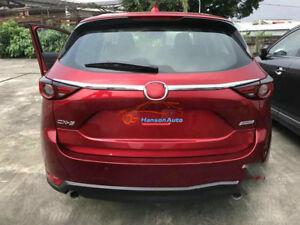 For Mazda CX5 2017 2020 Car Accessories Rear Trunk Streamer Cover Tail Door Trim