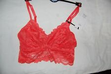 M&S Non Padded Non Wired Bralet Isabella Lace Tomato Size 8 BNWT