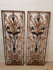 Zwei Vintage Gitter Historische Baustoffe Fenstergitter Türgitter Eisengitt