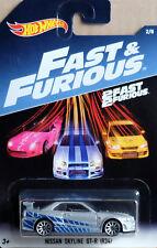 NISSAN SKYLINE GT-R r34 Brian Fast & Furious 2/8 1:64 HOT WHEELS dwf69 dwf68