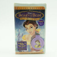 New Sealed Beauty And The Beast Belle's Magical World VHS Video Tape Disney