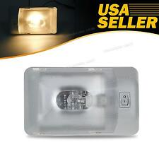 Euro Style Warm White Amber RV Interior Dome Light Fixtures Lamp ON/OFF