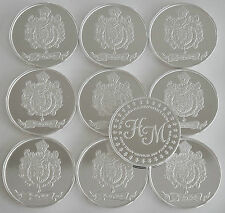 """10 ONE OZ HW MINTING HERALDRY MINT """"SPAIN"""" FINE .999 SILVER COINS SILVER ROUND"""