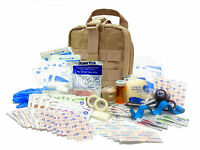 Military Rip-Away EMT First Aid Kit - IFAK Level 1 Army Medic Tan #FA16