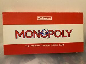Vintage Waddingtons Monopoly Board Game Mint Condition 100% Complete Rare Cards