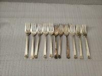 Holmes & Edwards 1923 Century Pattern Silver Plate Set of 11 Forks 6.25''L