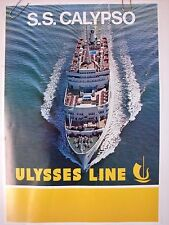 "ULYSSES SHIP LINE ORIGINAL POSTER ""S. S. CALYPSO""  SS SOUTHERN CROSS OCEAN LINER"