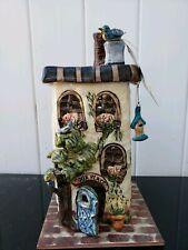 Blue Sky Clayworks Heather Goldminc Our Place Tea Light Holder Christmas