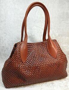 ABRO Damenhandtasche, Schultertasche, Farbe Braun, Echtleder, Gebraucht
