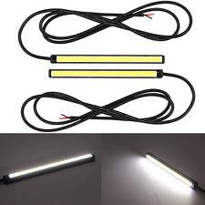 2x New White Mini LED DRL Xenon Bar SMD Waterproof High Bright Light Strips 12V