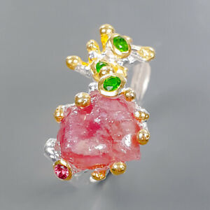 Jewelry Fine Art Ruby Ring Silver 925 Sterling  Size 9 /R177053