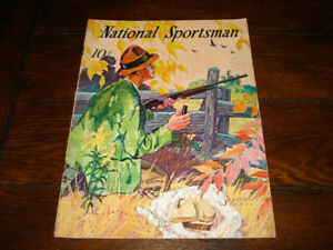Vintage SEPTEMBER 1936 10ct National Sportsman Magazine Hunter w/Duck call Cover