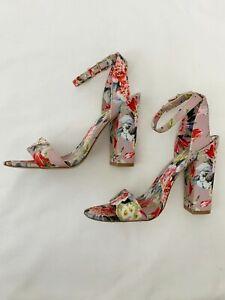 Aldo Miyaa Floral Heels Block Heel Size 6