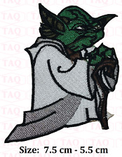 "STAR WARS ""JEDI MASTER YODA"" Iron-On Patch EMBROIDERED"