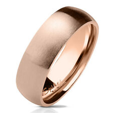 Matte Finish Dome Surface Stainless Steel Band Ring w/ Polished Sides & Inside