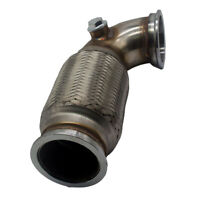 """2.5""""inch V-Band Downpipe Low Profile 90 Degree with Flex Bellow Pipe Stainless"""