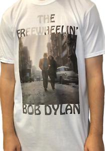 Bob Dylan Freewheelin' White Unisex Official T Shirt Brand New Various Sizes