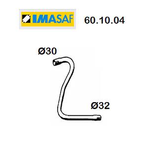 TUBO GAS DI SCARICO ANTERIORE RENAULT R4 - RODEO 4 IMASAF PER 7700515611