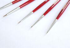 Rotmarder Pinsel Gr. 10/0, 5/0, 4/0, 3/0, 2/0 Details Pinsel für Acryl, Ölfarbe