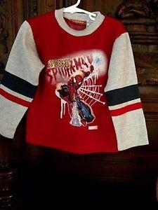 Spiderman Athletic L/S Sweatshirt Boys Size 4 Super Hero Toddler