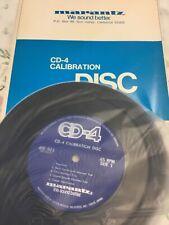 Marantz CD-4 calibration record