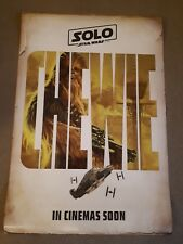 Solo star wars movie original ds one 1 sheet poster #d