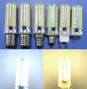 G4/G9/E12/E11/E17/BA15D LED Light bulb Dimmable 152Led 110/220V 5W Silicone Lamp