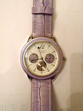 Lipsy Ladies Watch - Purple Synthetic Leather Strap / White Face (SLP006V) - VGC