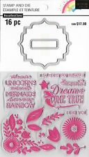 RECOLLECTIONS Stamp & Die set Enchanting MERMAID & UNICORN SENTIMENTS