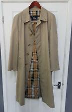 Burberrys Men's Trench Coat Size 52Reg Excellent Condition