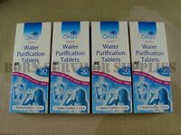 OASIS WATER PURIFICATION TABLETS 8.5mg - 200 Pack British Army NATO Issue Travel