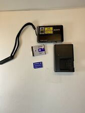 Sony Cyber-shot DSC-T70 8.1MP Digital Camera - Black With Charger And 1GB Card