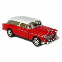 "Kinsmart 5"" 1955 Chevy Nomad 1:40 Diecast Model Toy Car Chevrolet- Red"