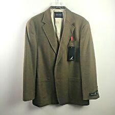 Men's 42R Nautica Camel & Brown Lambs Wool Sport Coat Blazer