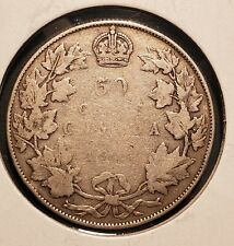 Canada 1914 50 Cents - Silver - George V - KEY DATE