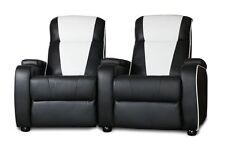 The Original Metro Retro Movie Chair Home Cinema Seating Sofa Blk Double Theatre